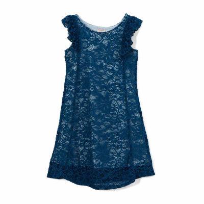 "Girl's ""Sophia"" Lace A-Line Dress"