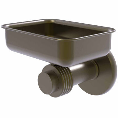 Allied Brass Mercury Collection Wall Mounted Soap Dish with Groovy Accents