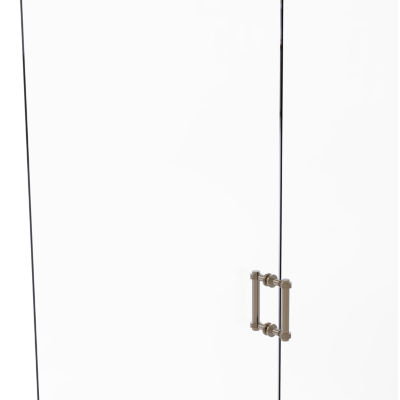 Allied Brass Contemporary 6 IN Back To Back ShowerDoor Pull With Dotted Accent