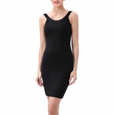"phistic Women's ""Savannah"" U-Neck Tank Bandage Dress"