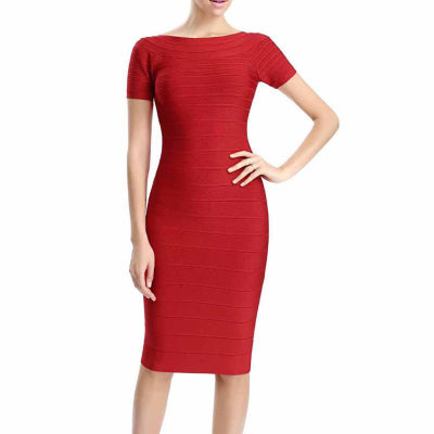 "phsitic Women's ""Samantha"" Boatneck Bandage Dress"