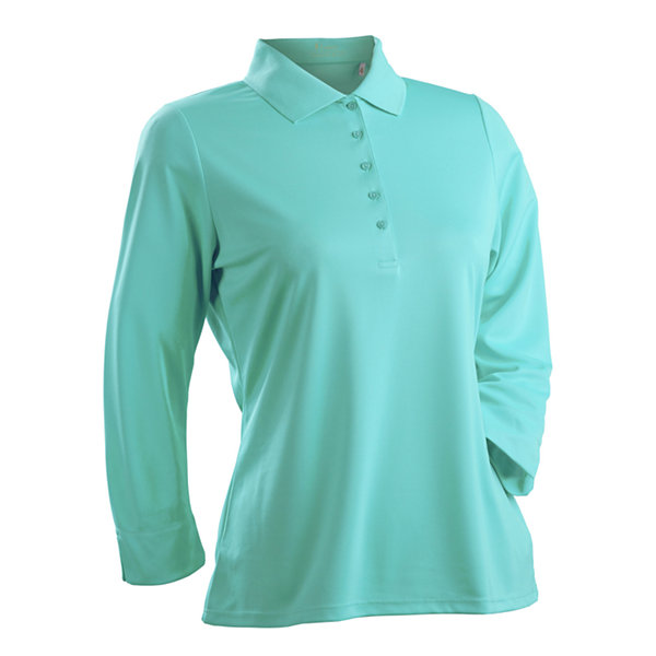 Nancy Lopez Golf Luster 3/4 Sleeve Polo Plus