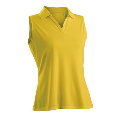 Nancy Lopez Golf Luster Sleeveless Plus Sleeveless Knit Polo Shirt Plus