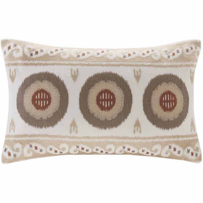 INK + IVY Angelo Embroidered Oblong Throw Pillow