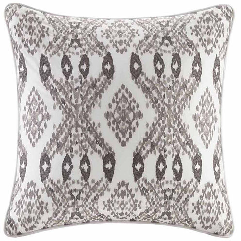 INK + IVY Clyde Embroidered Square Throw Pillow