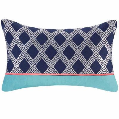 Mix & Match Embroidery Oblong Throw Pillow