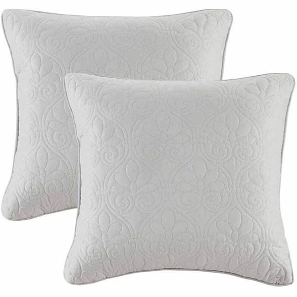 Madison Park Mansfield Quilted Square Throw PillowPair