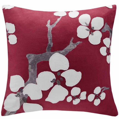 Cherry Blossom Square Throw Pillow