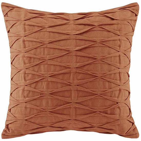 Nara Pintuck Cotton Decorative Throw Pillow