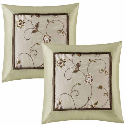 Madison Park Estella Embroidered Throw Pillow Pair