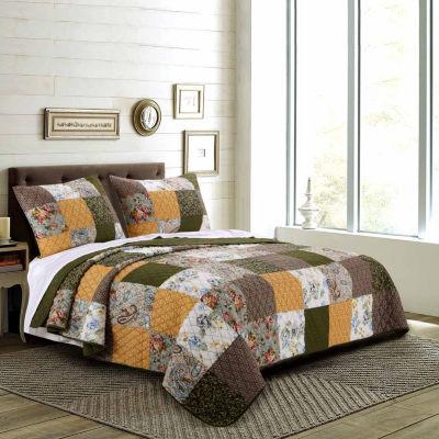 Greenland Home Fashions Cedar Creek Quilt Set