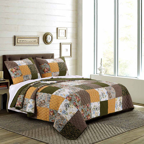 Greenland Home Fashions Cedar Creek Quilt Set