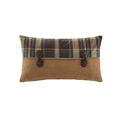 Woolrich Hadley Plaid Pieced Oblong Decorative Pillow