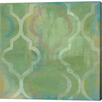 Quatrefoil II Gallery Wrapped Canvas Wall Art On Deep Stretch Bars