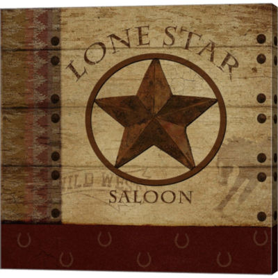 Lone Star Saloon Gallery Wrapped Canvas Wall Art On Deep Stretch Bars