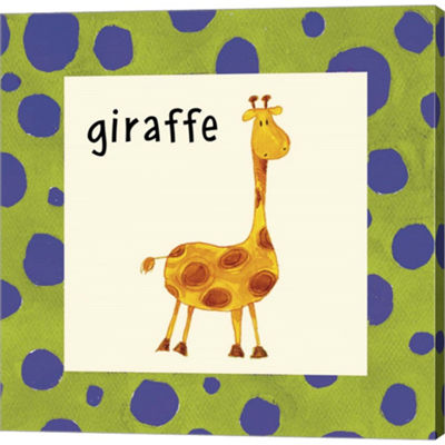 Giraffe With Border Gallery Wrapped Canvas Wall Art On Deep Stretch Bars