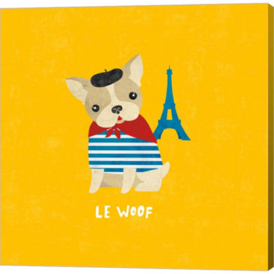 Good Dogs French Bulldog Bright Gallery Wrapped Canvas Wall Art On Deep Stretch Bars