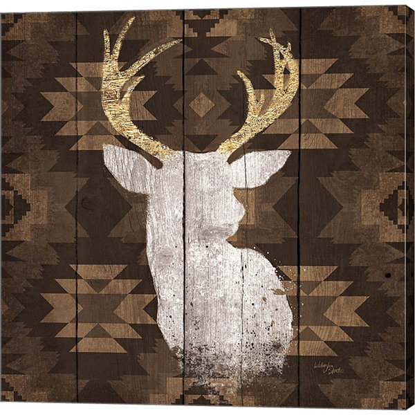 Precious Antlers II Gallery Wrapped Canvas Wall Art On Deep Stretch Bars