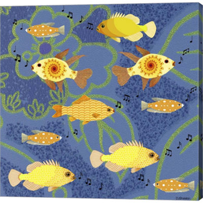 Fishtales 5 Gallery Wrapped Canvas Wall Art On Deep Stretch Bars