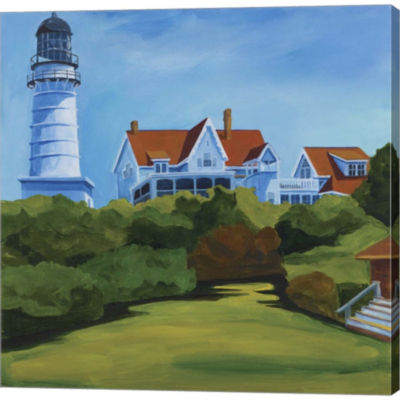 House At Two Lights Gallery Wrapped Canvas Wall Art On Deep Stretch Bars