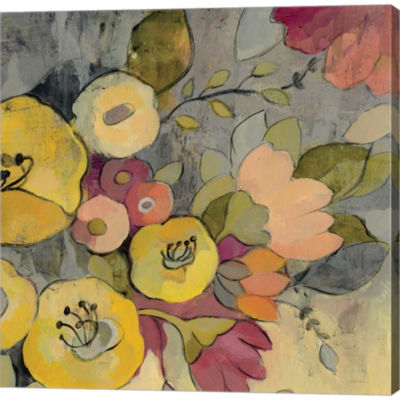 Yellow Floral Duo I Gallery Wrapped Canvas Wall Art On Deep Stretch Bars