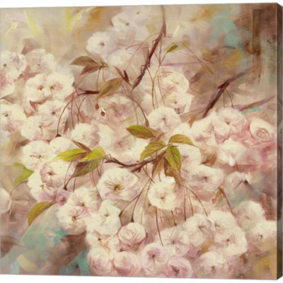 Rose Bush I Gallery Wrapped Canvas Wall Art On Deep Stretch Bars