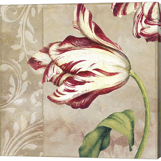 Peppermint Tulips II Gallery Wrapped Canvas Wall Art On Deep Stretch Bars