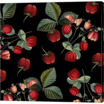 Nature's Bounty - Strawberries Gallery Wrapped Canvas Wall Art On Deep Stretch Bars