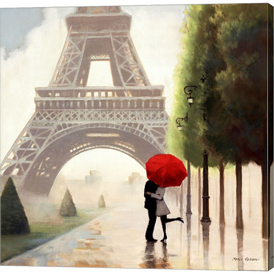 Paris Romance II Gallery Wrapped Canvas Wall Art On Deep Stretch Bars