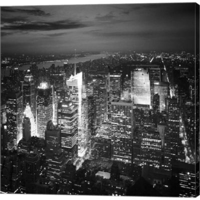 NYC Nights Gallery Wrapped Canvas Wall Art On Deep Stretch Bars