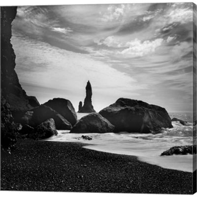 Iceland VIK Rocks Gallery Wrapped Canvas Wall Art On Deep Stretch Bars