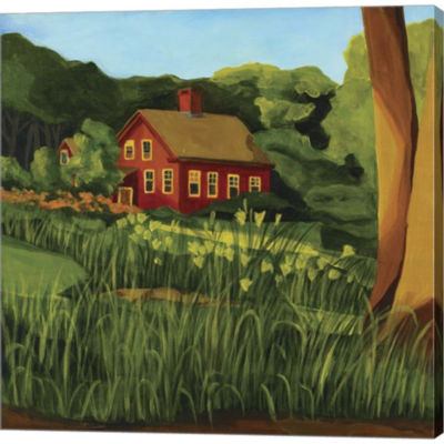 Red Houseon Pine Street Gallery Wrapped Canvas Wall Art On Deep Stretch Bars