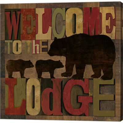 At The Lodge Printer Blocks Iv Gallery Wrapped Canvas Wall Art On Deep Stretch Bars