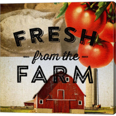 Fresh From The Farm Gallery Wrapped Canvas Wall Art On Deep Stretch Bars