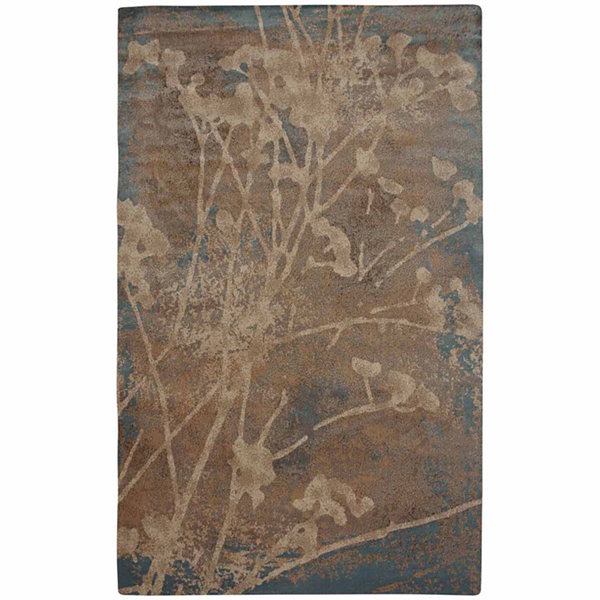 Rizzy Home Bellevue Collection Power-Loomed DylanGeometric Rug