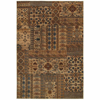 Rizzy Home Bellevue Collection Power-Loomed NathanGeometric Rug