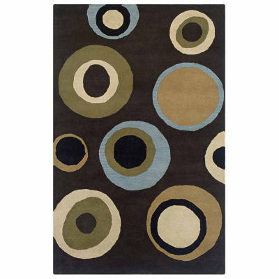 Rizzy Home Craft Collection Hand Tufted Logan Floral Rug
