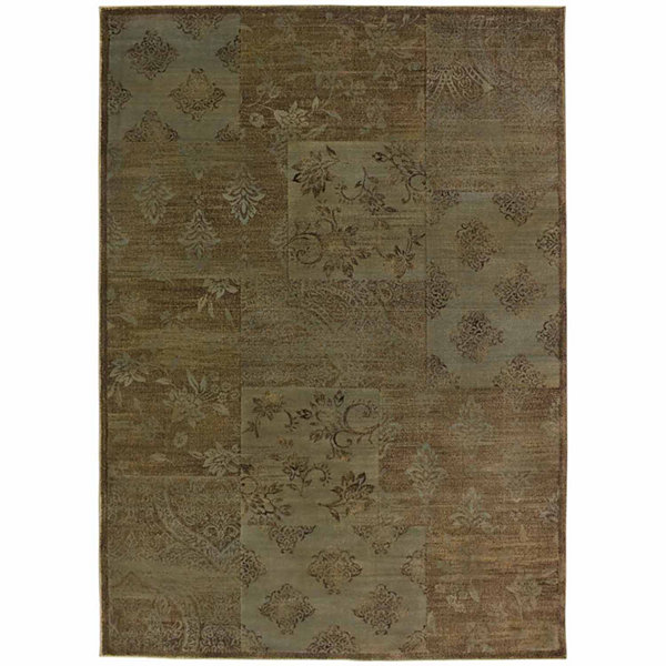 Rizzy Home Galleria Collection Power-Loomed AndrewGeometric Rug