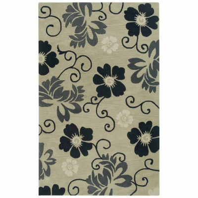 Rizzy Home Pandora Collection Hand Tufted Aiden Geometric Rug