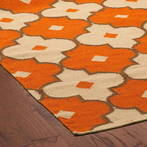 Rizzy Home Swing Collection Hand Made Flatweave Alexander Geometric Rug