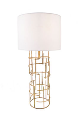 """Watch Hill Modern 29"""" Cylinder Gold Table Lamp"""
