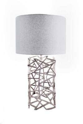 "Watch Hill 25"" Silver Twisted Cage Table Lamp"