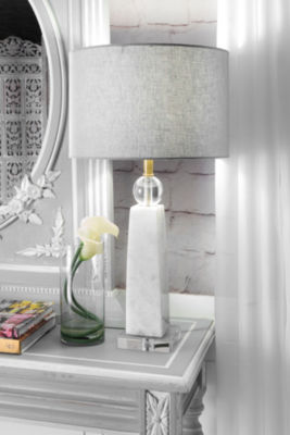 "Watch Hill 23"" Polished Marble Table Lamp"