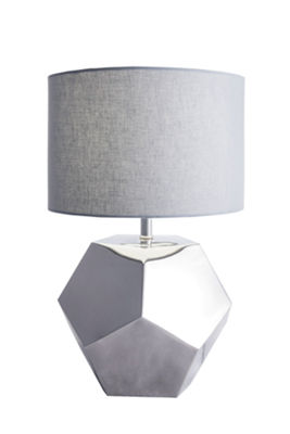 "Watch Hill 25"" Stainless Steel Gemstone Table Lamp"