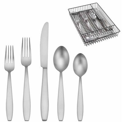 Oneida Satin Woodward 42-pc Flatware and Caddy Set