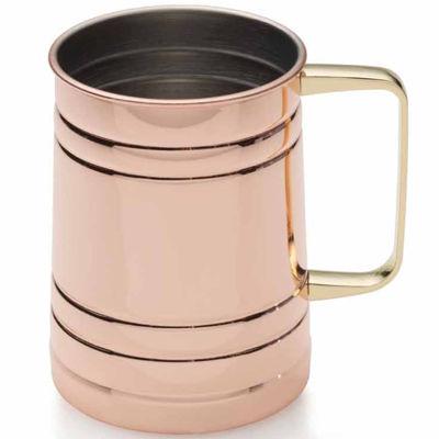 Towle Copper Plated Barrel Mug 20oz Tumbler Glass