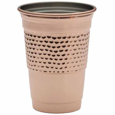 Towle Copper Plated Hammered Party Cup  180z Tumbler Glass