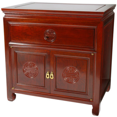 Oriental Furniture Cabinet 1-Drawer Nightstand