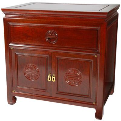 Oriental Furniture Cabinet 1-Drawer Nightstand