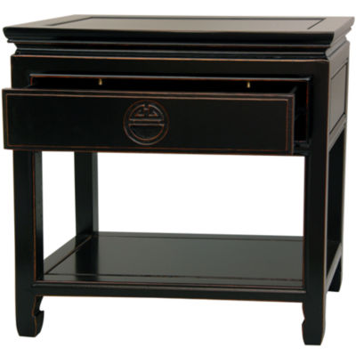 Oriental Furniture Table 1-Drawer Nightstand